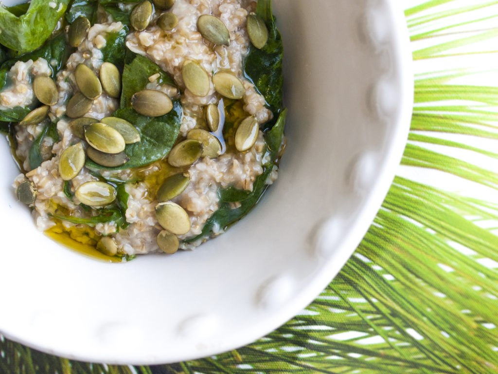 Oats with power greens